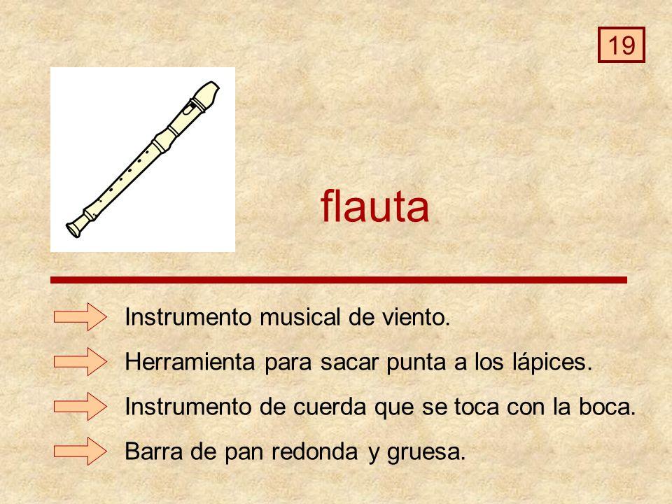 flauta Barra de pan redonda y gruesa.Instrumento musical de viento.