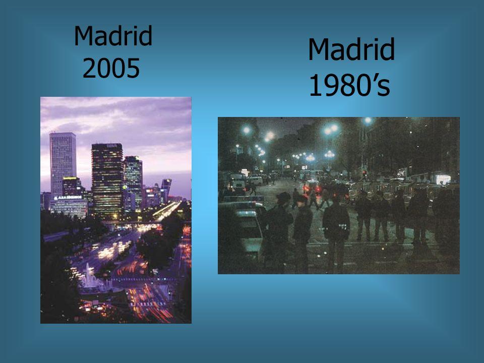 Madrid 2005 Madrid 1980s