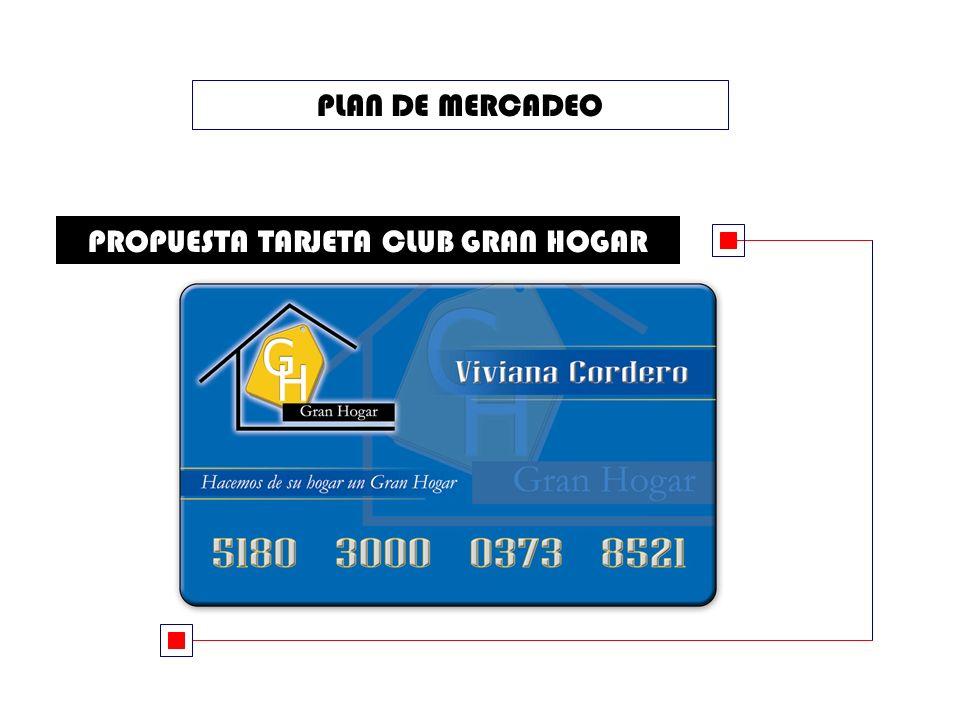 PLAN DE MERCADEO PROPUESTA TARJETA CLUB GRAN HOGAR