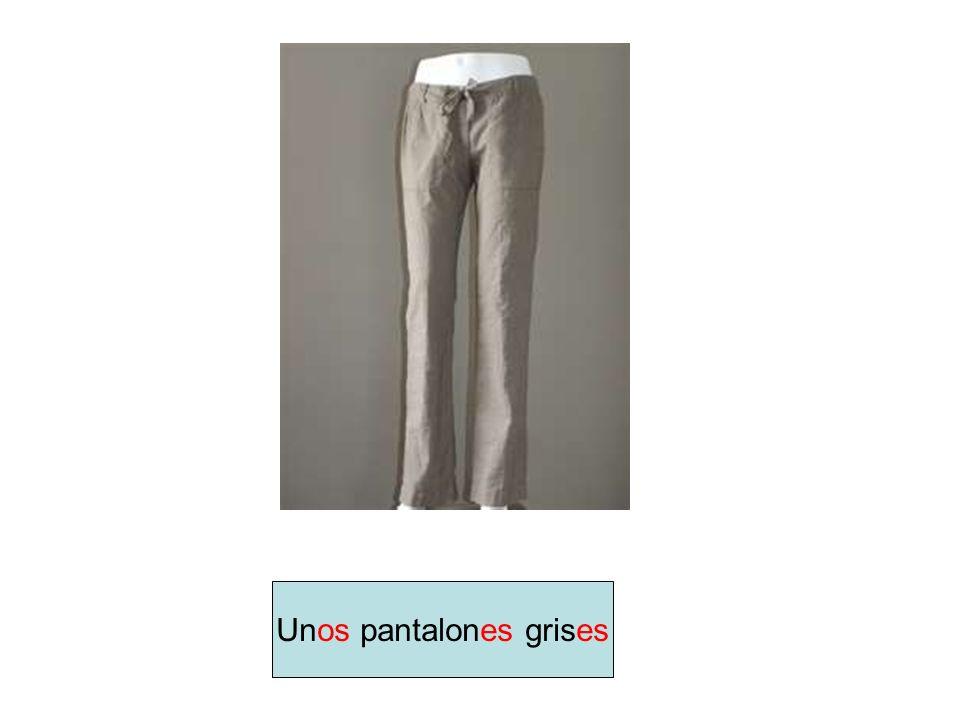 Unos pantalones grises