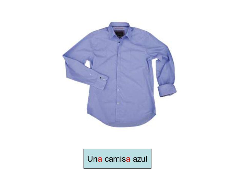 Una camisa azul