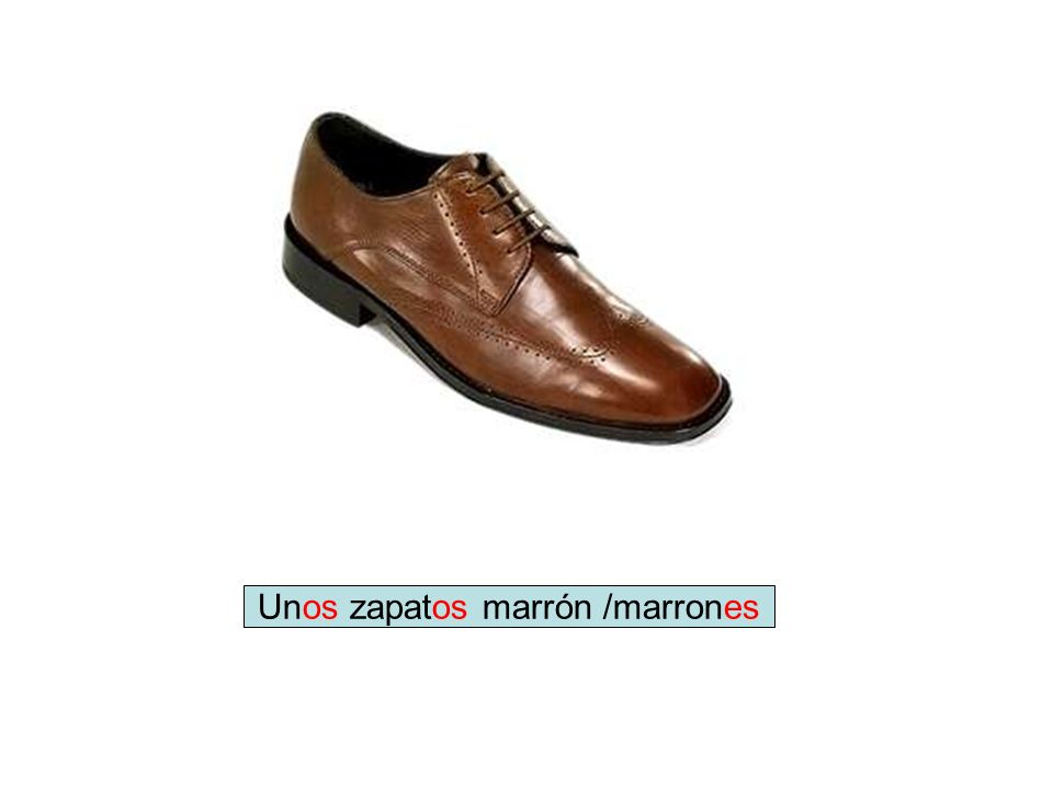 Unos zapatos marrón /marrones