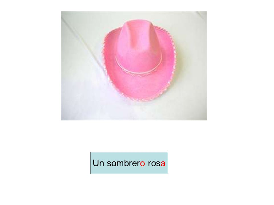 Un sombrero rosa