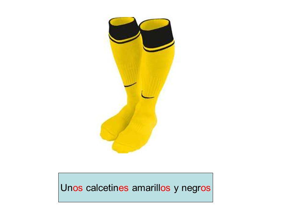 Unos calcetines amarillos y negros