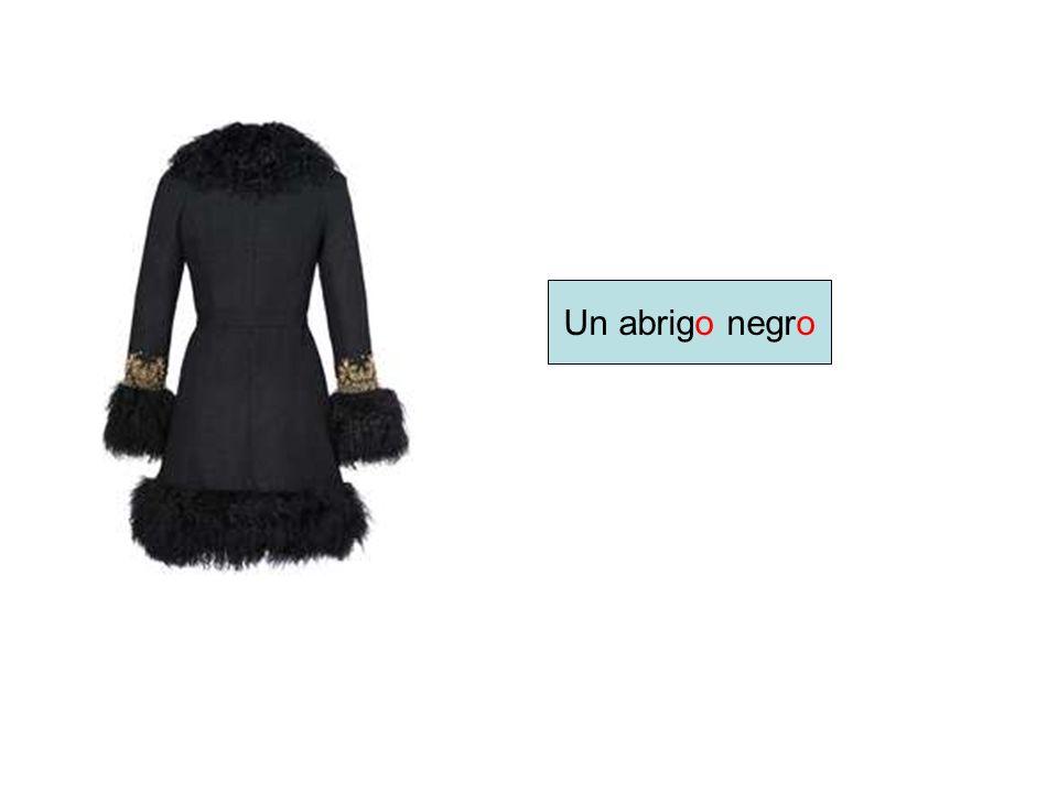 Un abrigo negro
