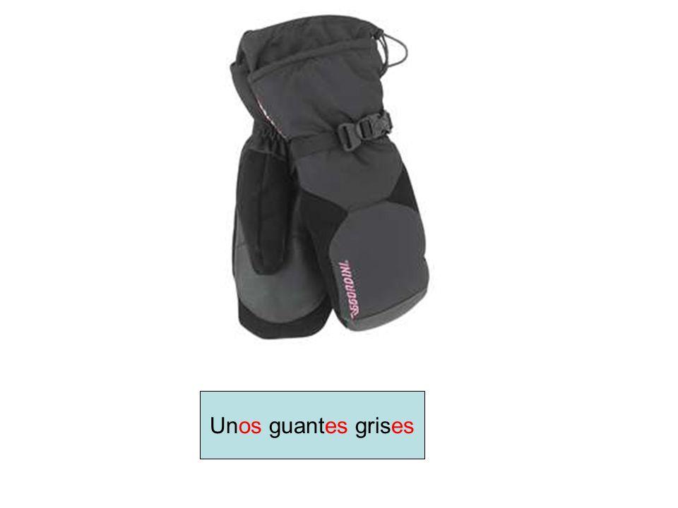 Unos guantes grises