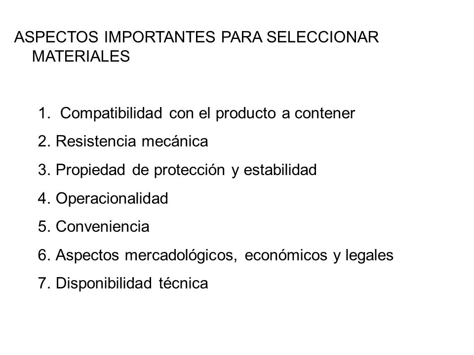 NORMALIZACION Y ESPECIFICACIONES CON LAS QUE DEBEN CUMPLIR LOS EMBALAJES DE TRANSPORTE OTRAS NORMAS REQUISITOS MEDIOAMBIENTALES EN LA UNION EUROPEA Directiva 94/62/CE – Sistema de Gestión y residuos de empaques y embalajes MATERIALES DE EMPAQUE Y EMBALAJE PARA ALIMENTOS FDA (Estados Unidos)