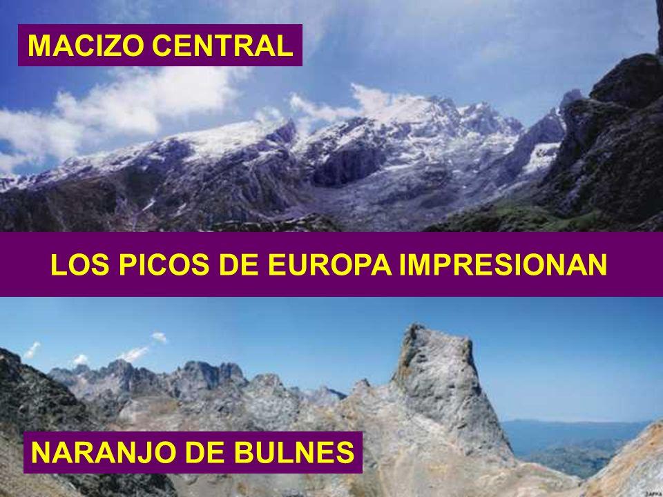 LOS PICOS DE EUROPA IMPRESIONAN MACIZO CENTRAL NARANJO DE BULNES