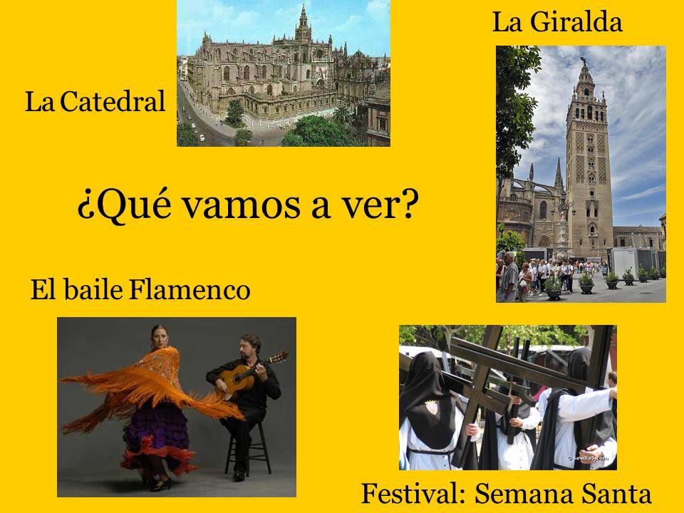 ¿Qué vamos a ver? Festival: Semana Santa La Giralda La Catedral El baile Flamenco
