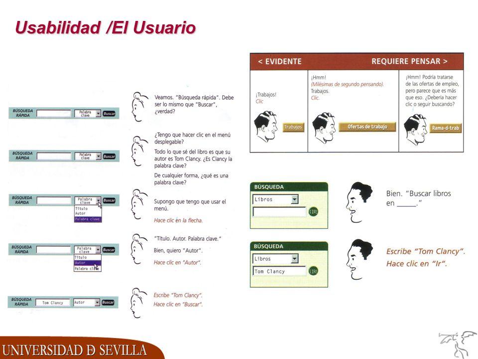 Usabilidad /El Usuario