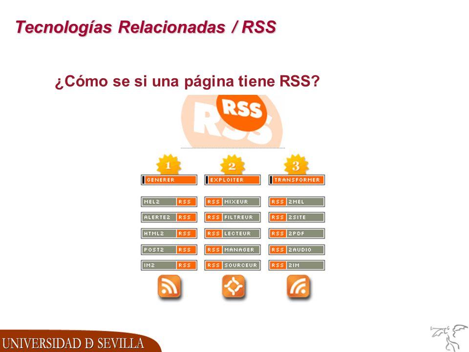 Tecnologías Relacionadas / RSS ¿Cómo se si una página tiene RSS?