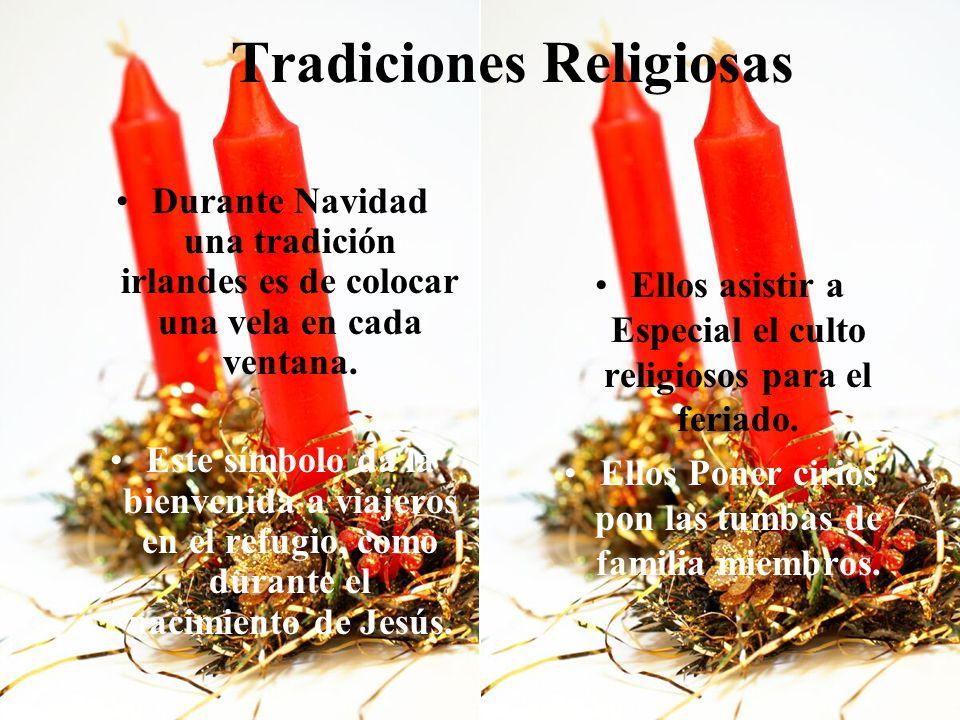 Tradiciones Religiosas Durante Navidad una tradición irlandes es de colocar una vela en cada ventana.