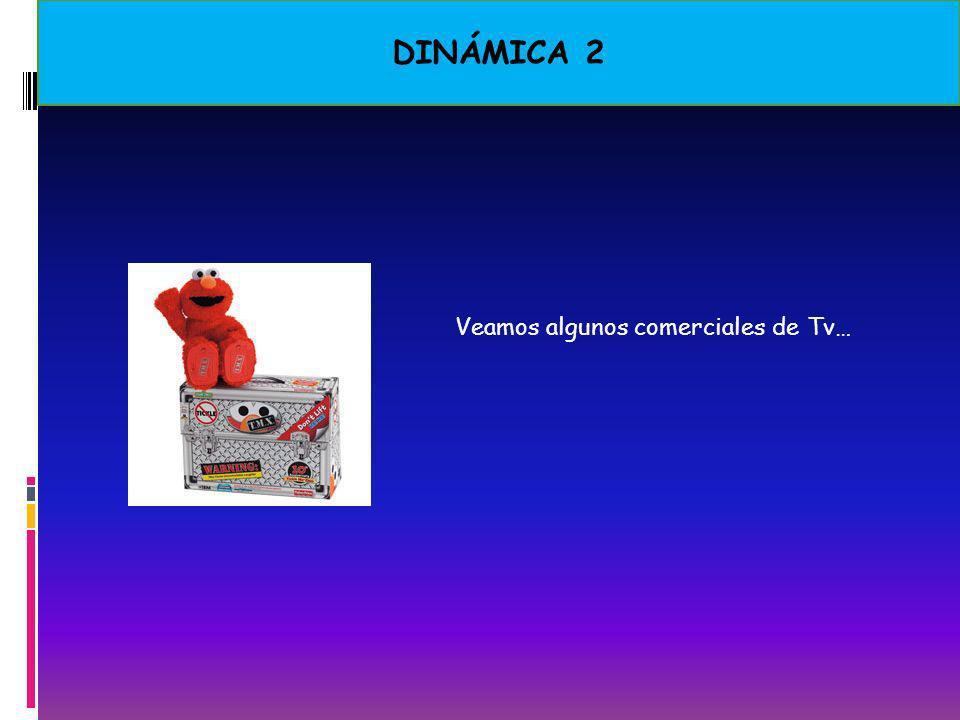 DINÁMICA 2 Veamos algunos comerciales de Tv…