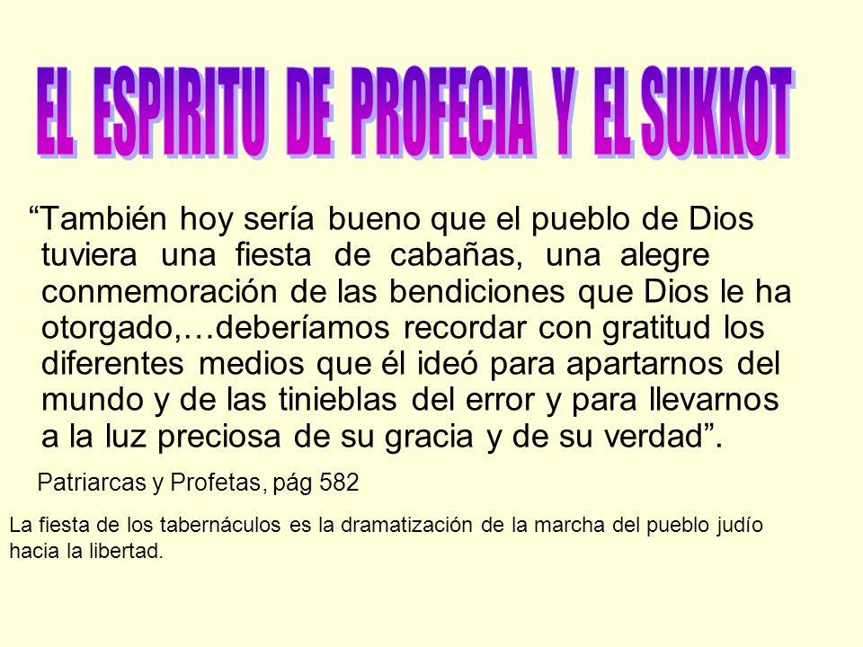 También hoy sería bueno que el pueblo de Dios tuviera una fiesta de cabañas, una alegre conmemoración de las bendiciones que Dios le ha otorgado,…debe