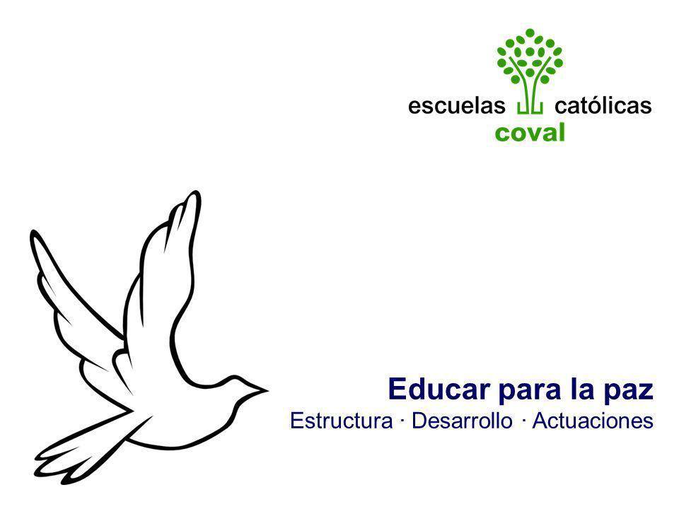 Educar para la paz Estructura · Desarrollo · Actuaciones