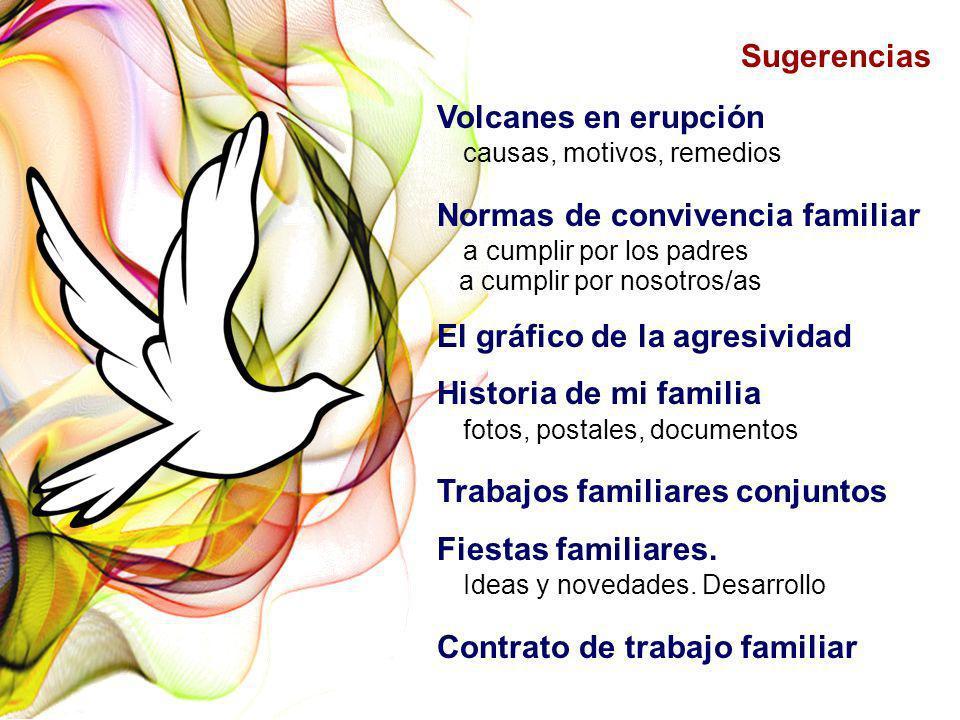 Sugerencias Volcanes en erupción causas, motivos, remedios Normas de convivencia familiar a cumplir por los padres a cumplir por nosotros/as El gráfic
