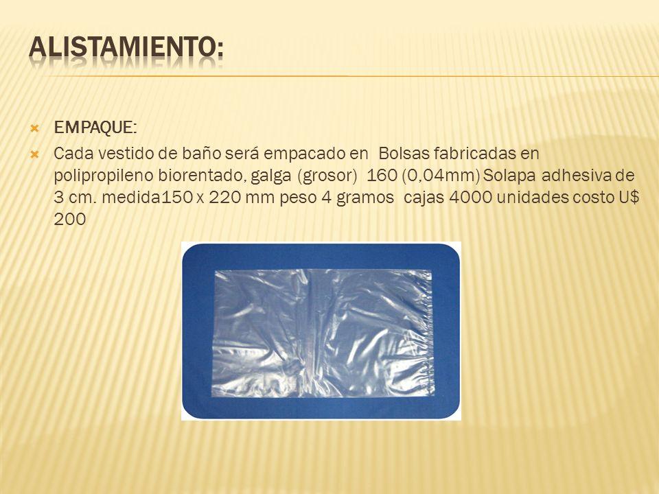 EMBALAJE: Cajas de cartón corrugado por ser manejable y mucho más económico medidas 0.50cms de largo, 0.50cms de ancho por 100 ms de fondo peso por caja de 350 grs valor 10 cajas U$25.