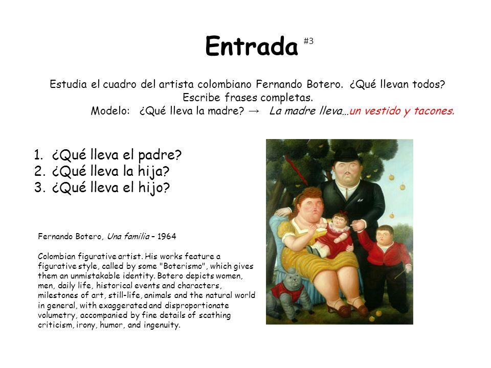 Entrada Fernando Botero, Una familia – 1964 Colombian figurative artist.