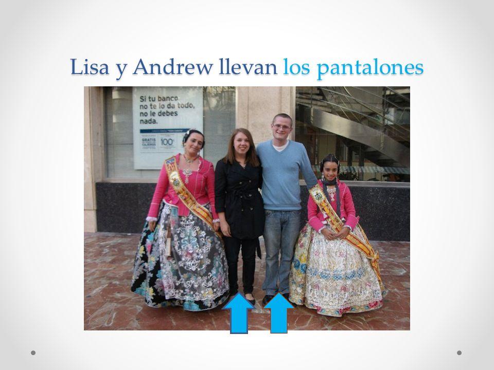Lisa y Andrew llevan los pantalones