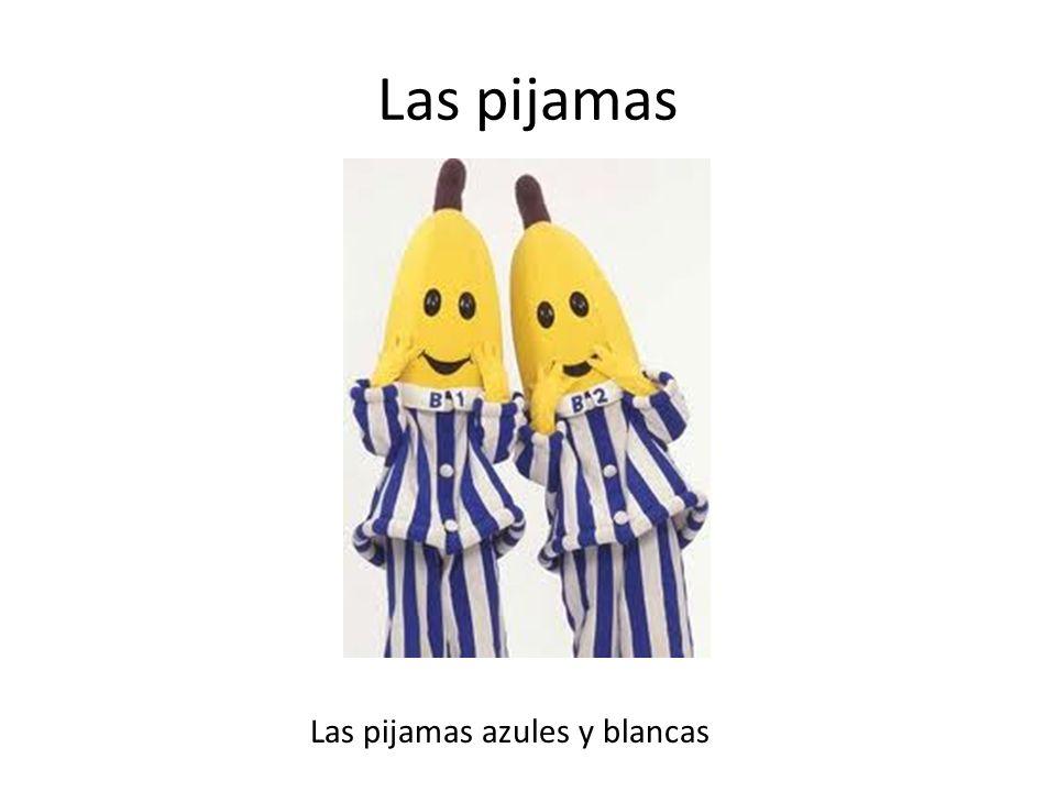 Las pijamas Las pijamas azules y blancas