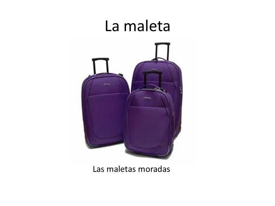 La maleta Las maletas moradas