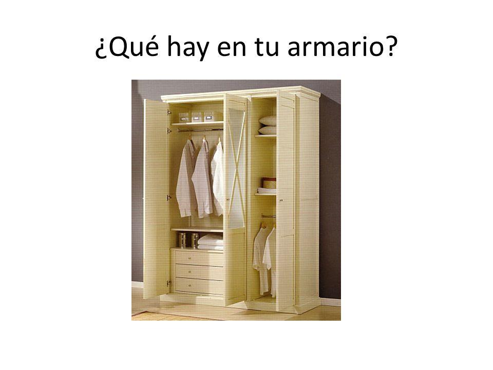 ¿Qué hay en tu armario?