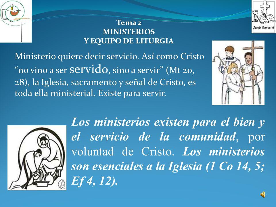TEMA 2 MINISTERIOS Y EQUIPO DE LITURGIA Parroquia de Nuestra Señora de la Soledad Sr. Cura Dr. Félix Castro Morales ¡BIENVENIDOS!