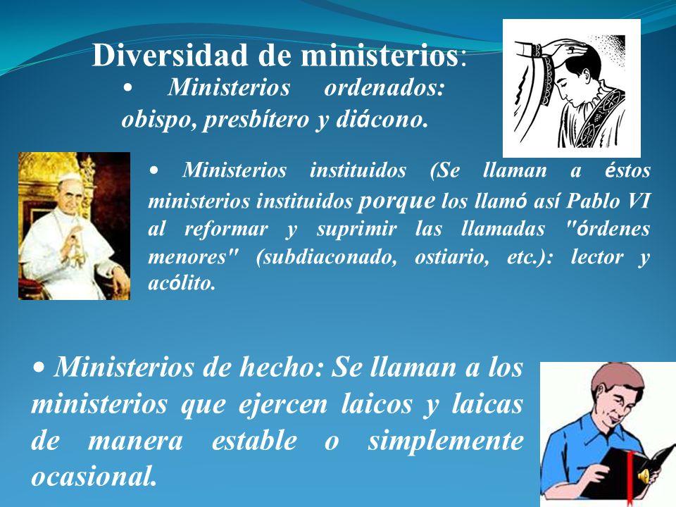 Tema 2 MINISTERIOS Y EQUIPO DE LITURGIA Ministerio quiere decir servicio. Así como Cristo no vino a ser servido, sino a servir (Mt 20, 28), la Iglesia