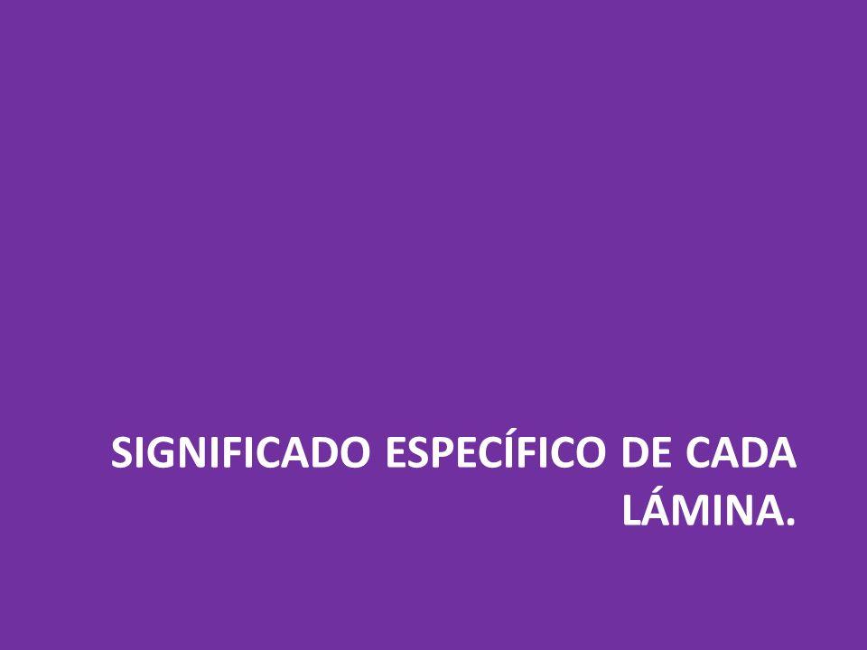 SIGNIFICADO ESPECÍFICO DE CADA LÁMINA.