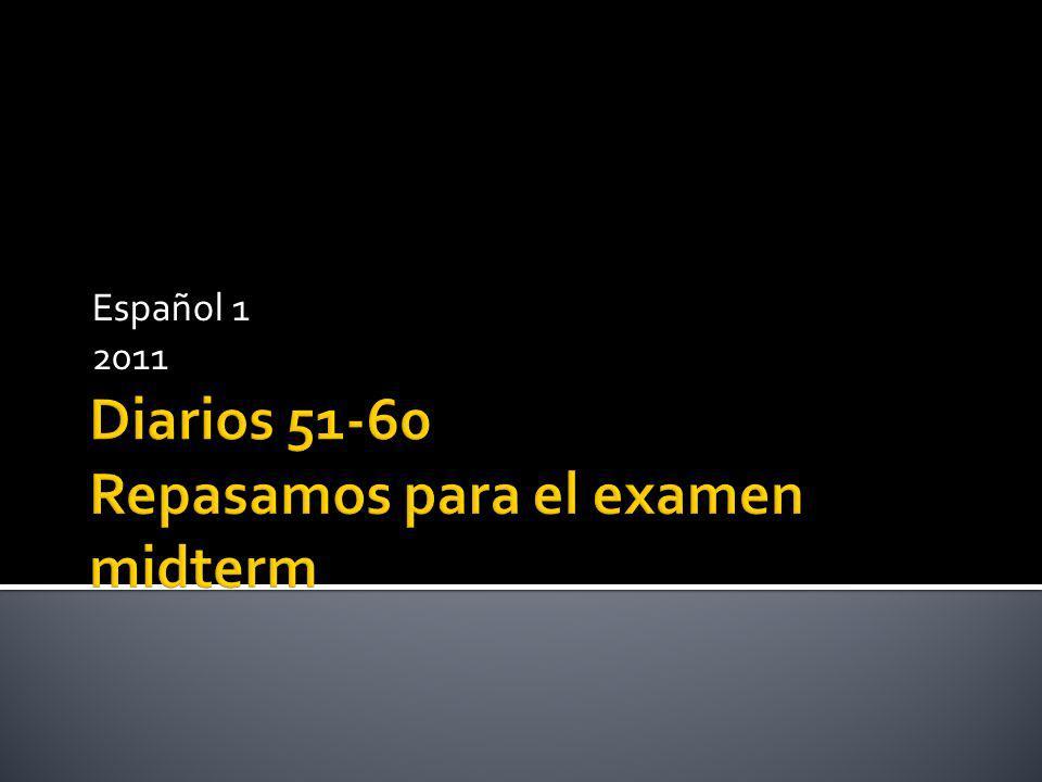 Español 1 2011