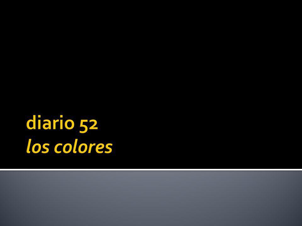 1.azul 2. verde 3. marrón 4. rojo 5. amarillo 6. anaranjado 7.