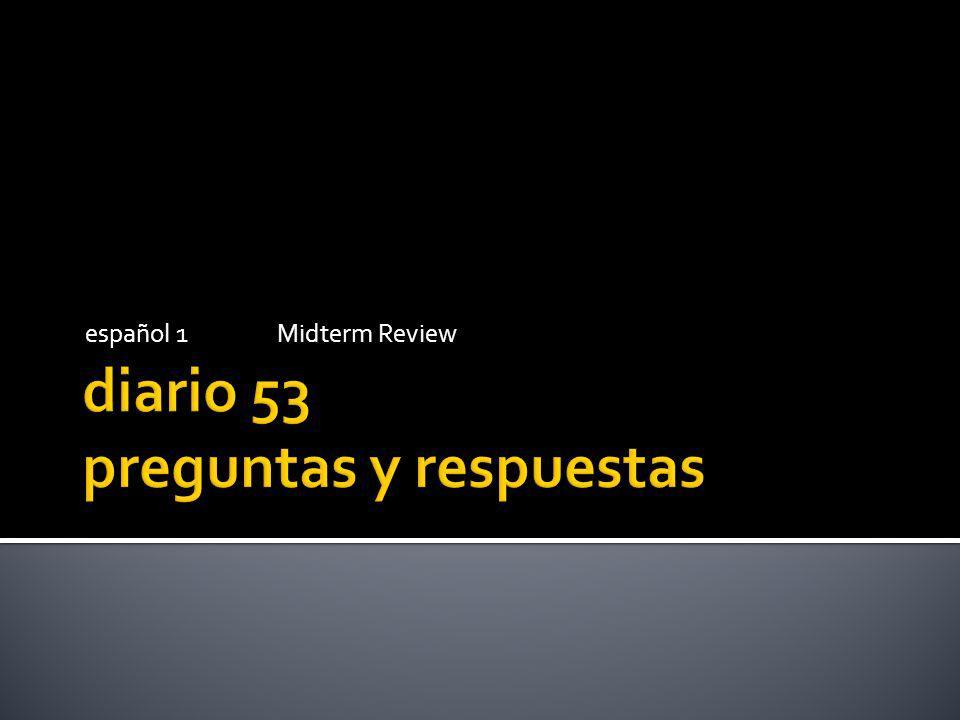español 1Midterm Review