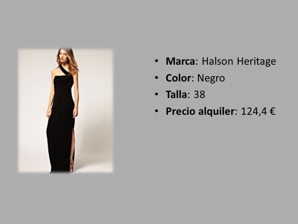 Marca: Halson Heritage Color: Negro Talla: 38 Precio alquiler: 124,4