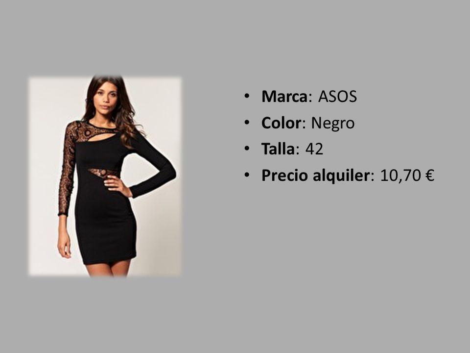 Marca: ASOS Color: Negro Talla: 42 Precio alquiler: 10,70