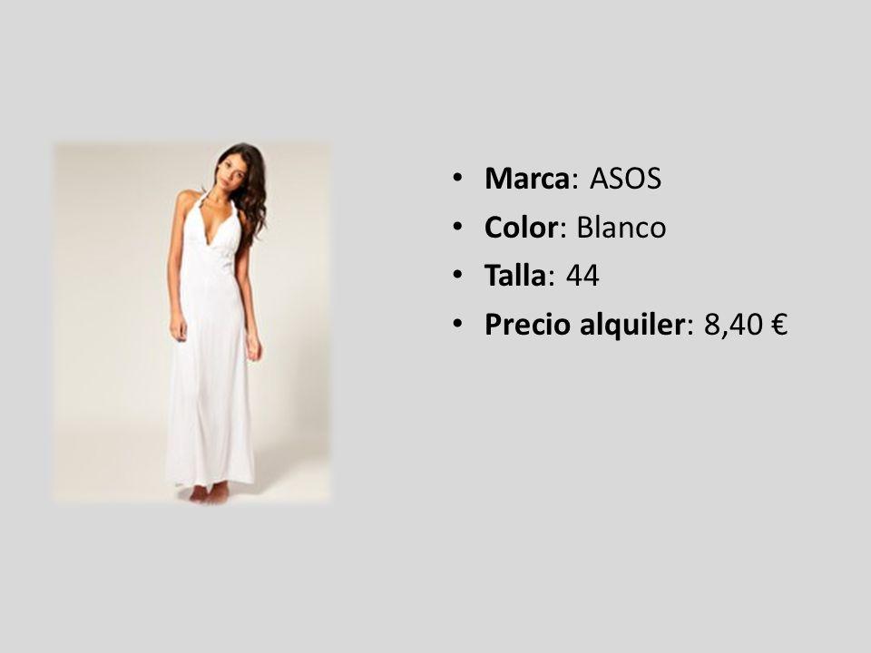 Marca: ASOS Color: Blanco Talla: 44 Precio alquiler: 8,40