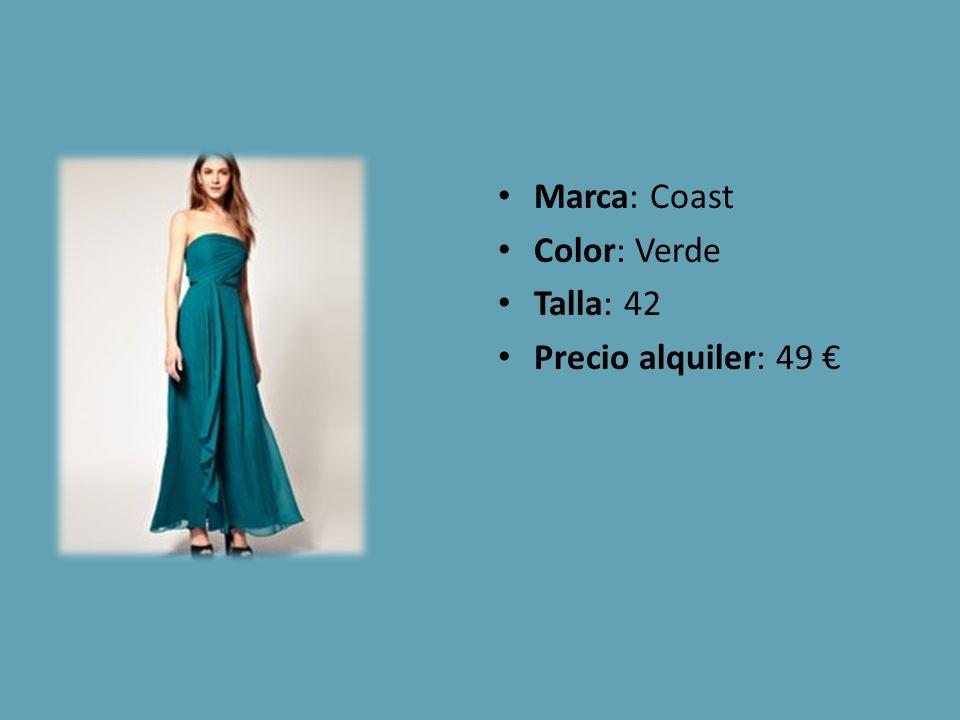 Marca: Coast Color: Verde Talla: 42 Precio alquiler: 49