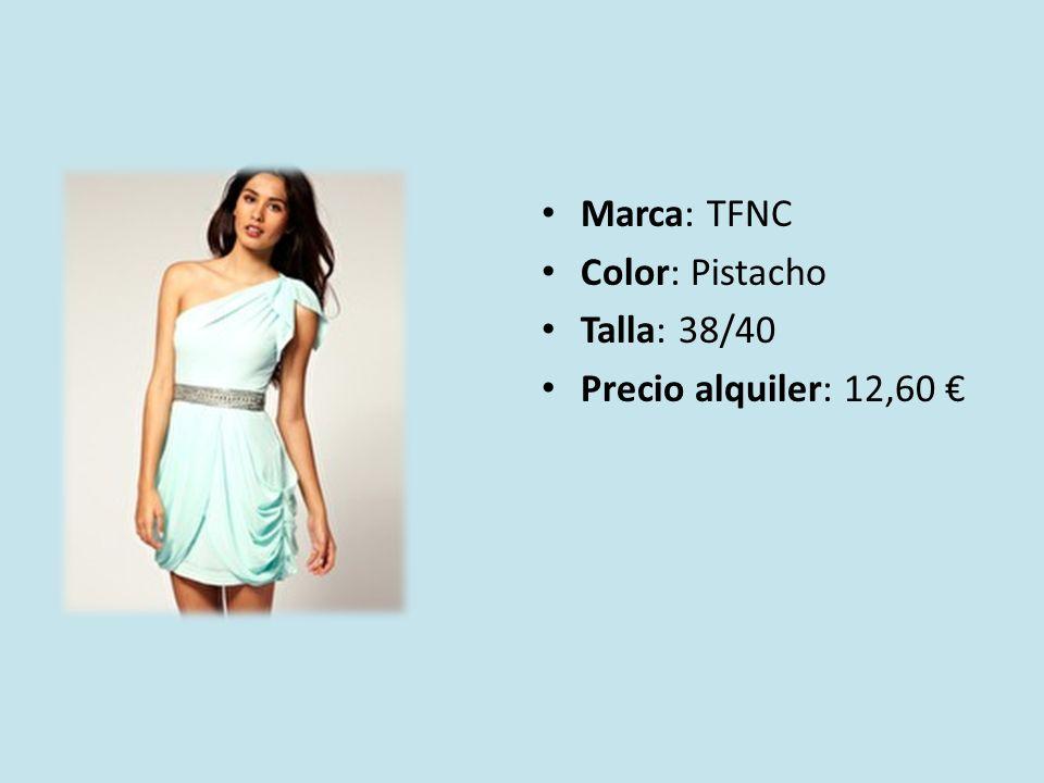 Marca: TFNC Color: Pistacho Talla: 38/40 Precio alquiler: 12,60