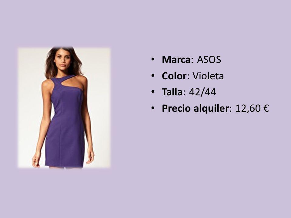 Marca: ASOS Color: Violeta Talla: 42/44 Precio alquiler: 12,60