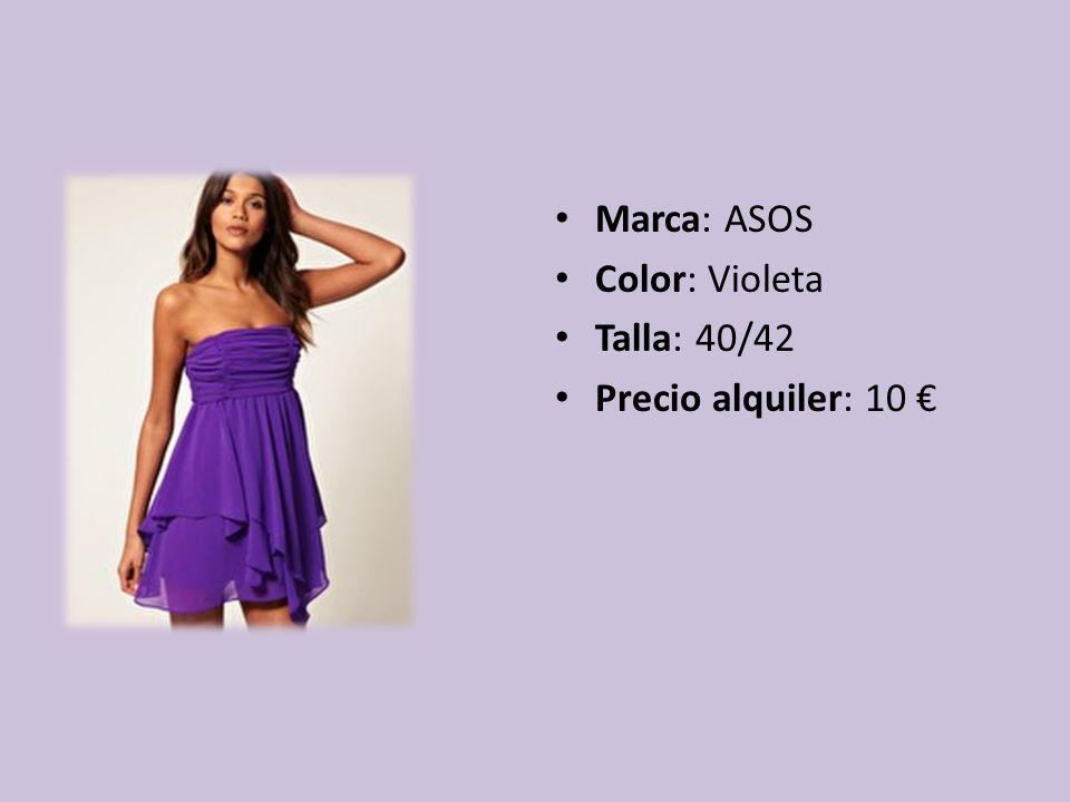 Marca: ASOS Color: Violeta Talla: 40/42 Precio alquiler: 10
