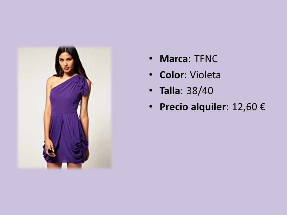 Marca: TFNC Color: Violeta Talla: 38/40 Precio alquiler: 12,60