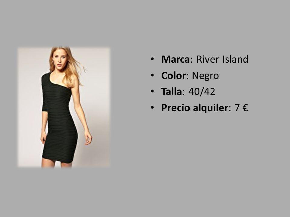 Marca: River Island Color: Negro Talla: 40/42 Precio alquiler: 7