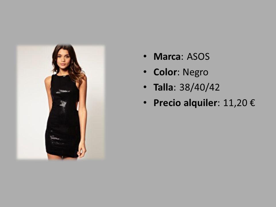 Marca: ASOS Color: Negro Talla: 38/40/42 Precio alquiler: 11,20