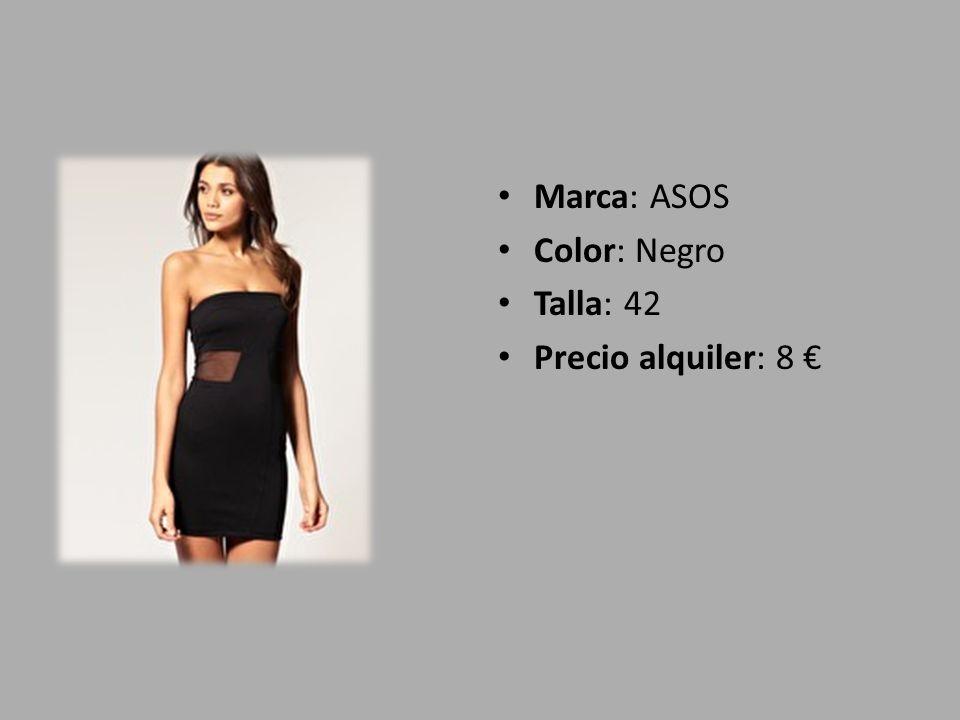 Marca: ASOS Color: Negro Talla: 38 Precio alquiler: 12,60