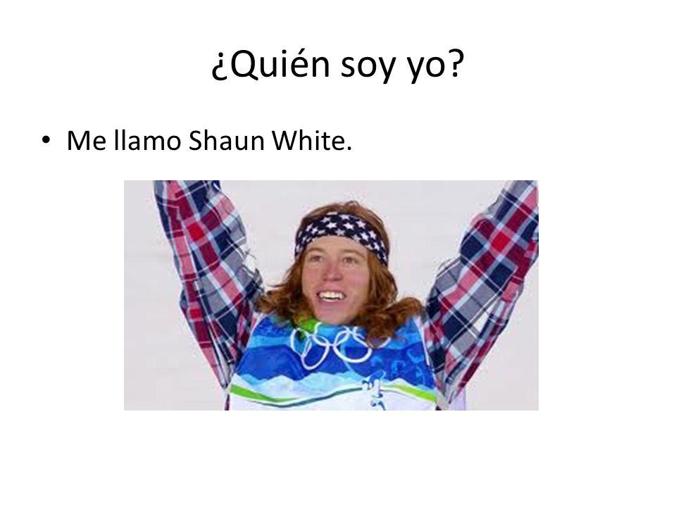 ¿Quién soy yo? Me llamo Shaun White.