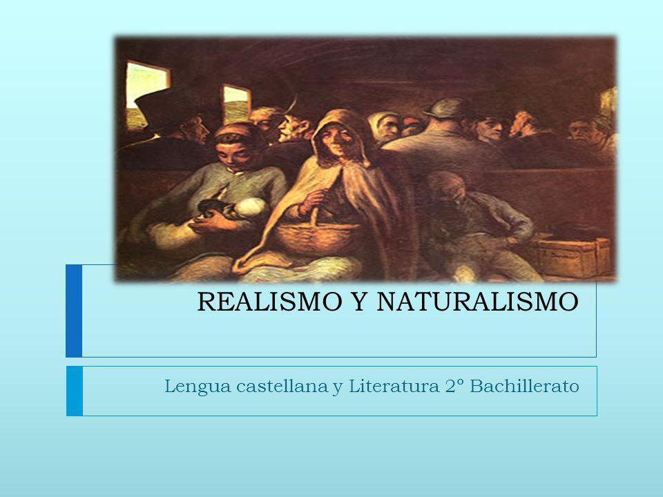 REALISMO Y NATURALISMO Lengua castellana y Literatura 2º Bachillerato