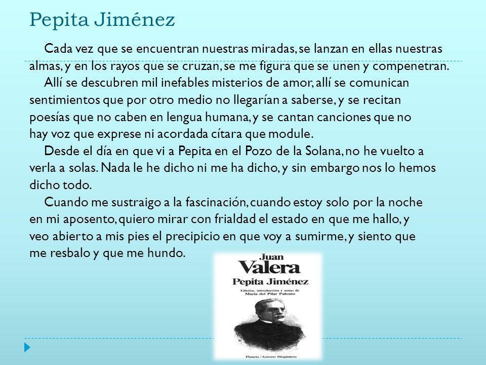 Juan Valera Defiende el carácter poético de la novela: si la realidad es triste y fea, el escritor debe mentir para consuelo de sus lectores. Novelas