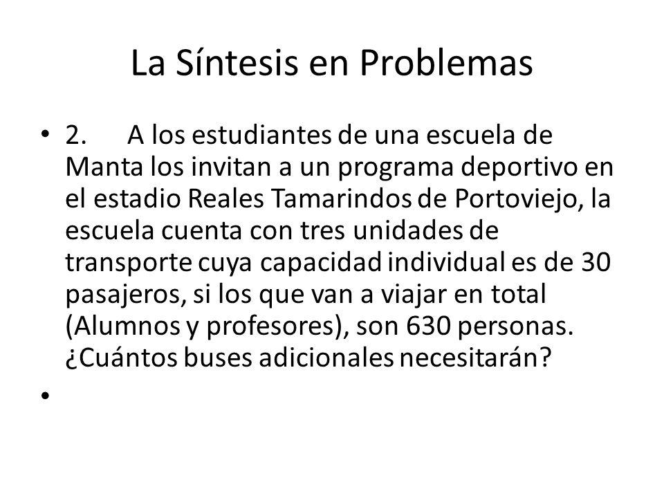 La Síntesis en Problemas 2.