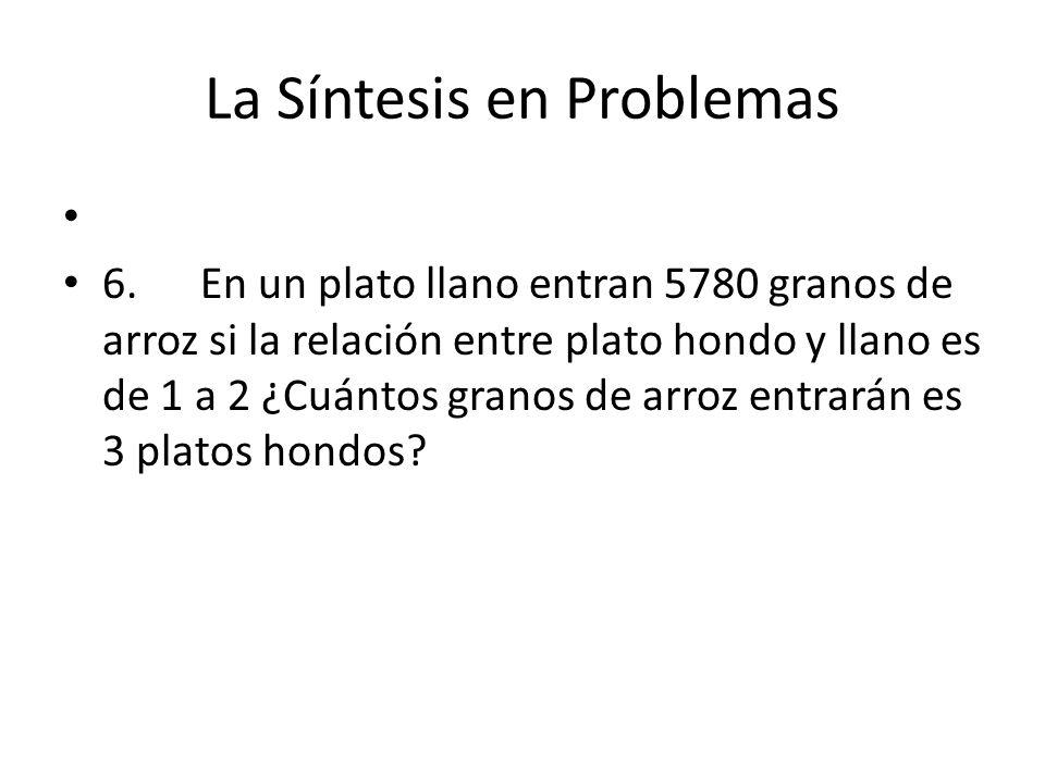 La Síntesis en Problemas 6.
