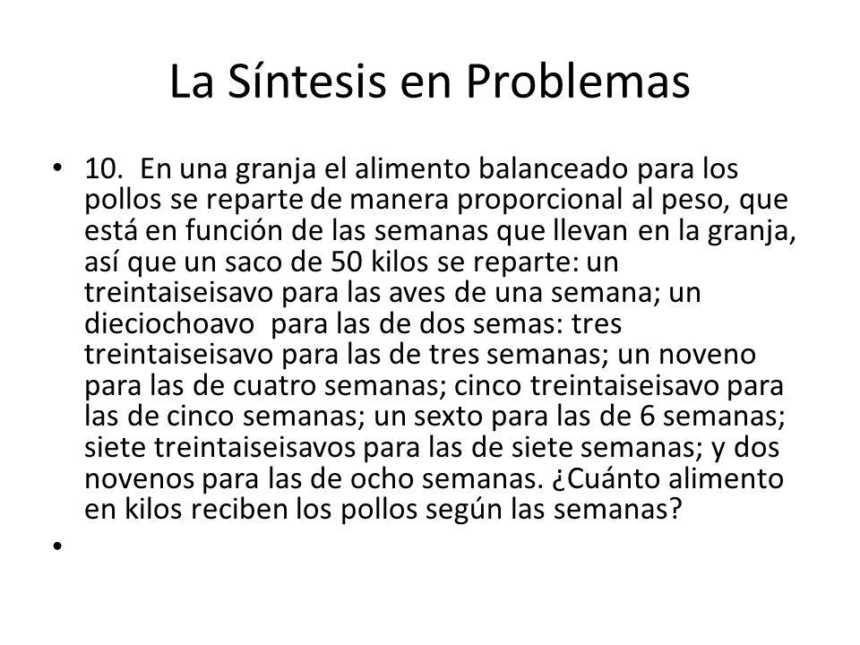 La Síntesis en Problemas 10.