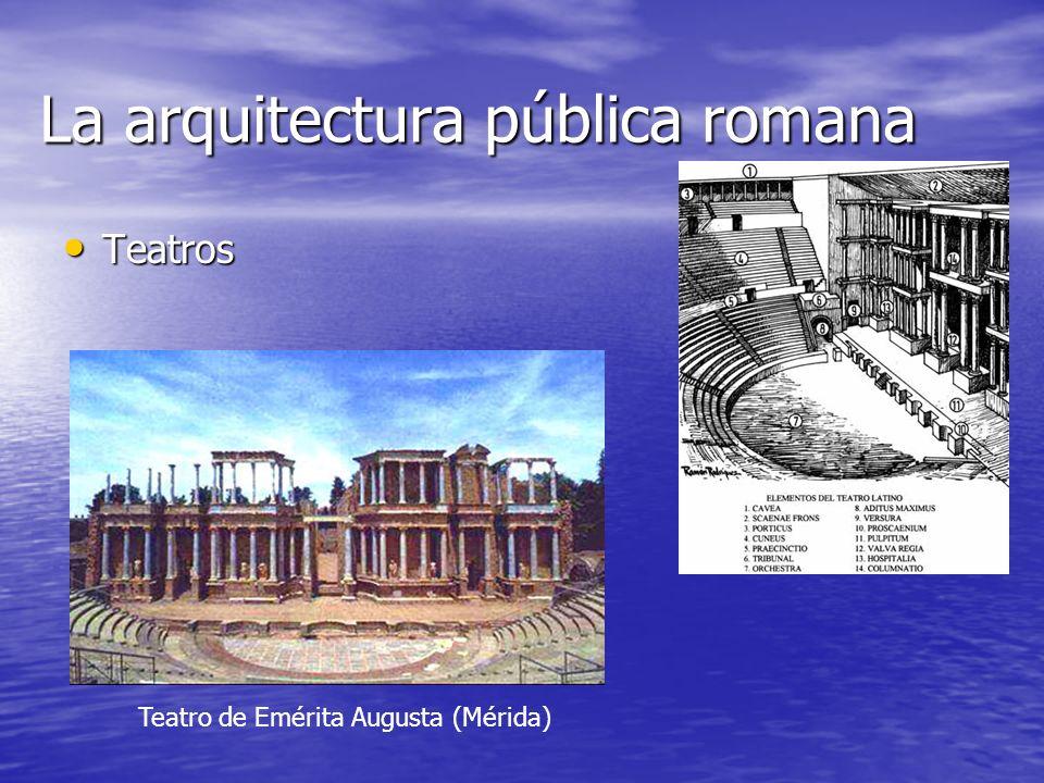 La arquitectura pública romana Teatros Teatro de Emérita Augusta (Mérida)
